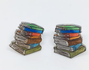 Book Stack Earrings Book Lover Bookish Jewelry Librarian Gift Literary Gift Reading Group Book Club Bookworm Booknerd Bookshelf Bibliophile