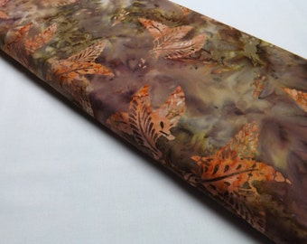 Timeless Treasures Batik Textiles Brown Leaves Fall Leaf Autumn Quilting Sewing Fabrics