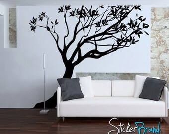 Vinyl Wall Decal Sticker Leaning Tree AC153B