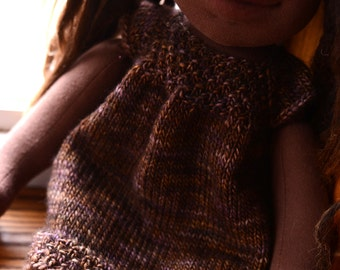 16 inch Waldorf Doll Clothes Brown Waldorf Doll Sweater Dress