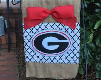 Handmade Georgia garden flag