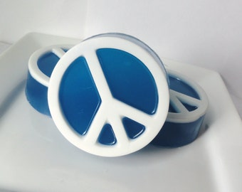 Peace Sign Shaped Soap - watermelon Scented - Glycerin Soap - Vegan - For Her - For Him - Gift - Teen - Novelty - Christmas - Party favor