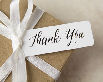 Mini Thank You Tags - Small Thank You Tags - Mini Tags - Script Thank You Tags - Pretty Thank You Tags