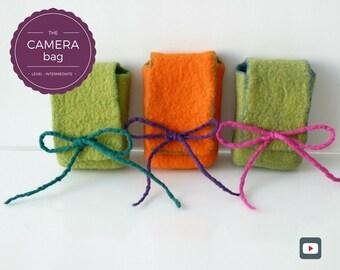DIY - Video Tutorial Camera Bag - Intermediate level - 9 videos - Instant download