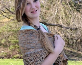 Shawl Knitting PATTERN PDF, Knit Shawl Pattern,  Lace Shawl, Crescent Shawlette - Artifact Shawlette