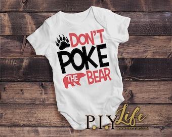 Kids    Don't Poke the Bear Kids Bodysuit DTG Printing on Demand