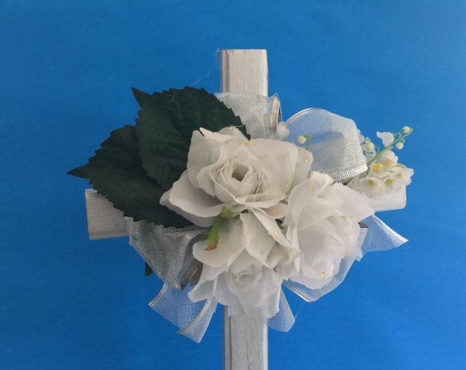 Cemetery flowers, flowers for grave, grave decoration, memorial cross, Cross for grave, grave marker, memorial flowers