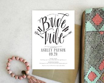 PRINTABLE Bachelorette Party Invitation | Bride Tribe