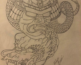 Japanese Inspired drawing