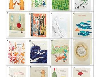Kaufen 4 Get One Free - Letterpress-Karten Größe 4,5 x 5,5 Zoll