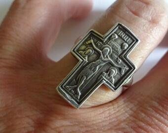 Sterling Silver Greek Ortodox Cross Ring Sizes 6-12 Hand Made by Rasnick Jewelry, cross jewelry, statement ring, silver cross,