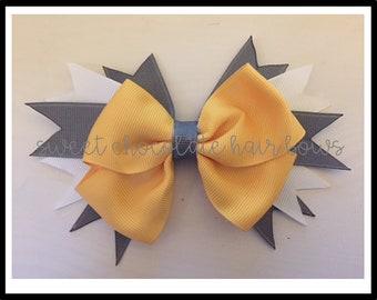 "Baby Yellow 5"" Layered Hair Bow"