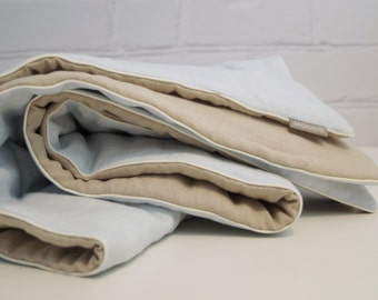 Baby blanket, crib blanket, linen blanket   -   baby shower gift,