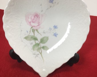 Vintage Mikasa Heart Shaped Jewelry Dish from Japan