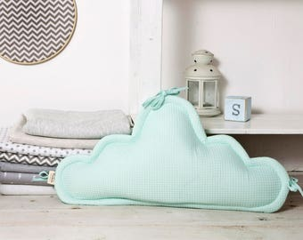Headguard cradle Cloud pillow|baby and toddler cloud cushion|nursery pillow|decorative pillow|child's pillow| mint waffle and Variety colors