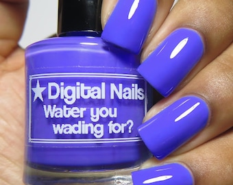 Water you Wading For?: dusty neon periwinkle creme from the Spring 2016 Creme a la Mode box by Digital Nails