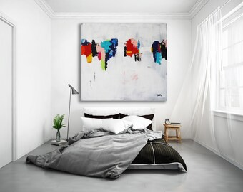 XL Colorful Abstract Painting / Contemporary Art / Modern Art / Oversized Painting / Abstract Art