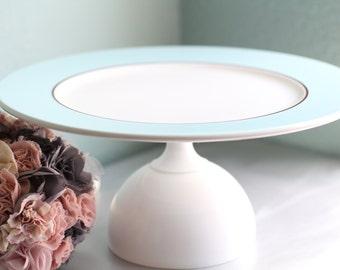Cake Stand in Blue / Cupcake Stand / Dessert Pedestal for Wedding Truffles / Cake Pop Stand Wedding Cake Pops / Gourmet Marshmallow Platter