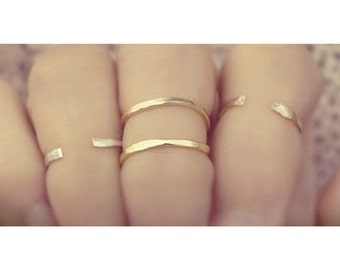 gold open cuff ring, gold spiral ring, twist ring, silver adjustable ring, stackable rings