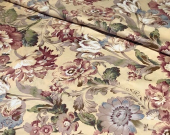 Floral in honey & ember - yellow cotton fabric width 160cm - Light Weight Cotton, 100% Cotton, Fabric. Annie Lane Australia