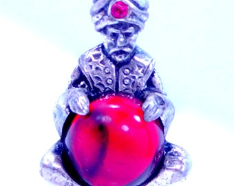 Sterling Silver Genie Fortune Teller Pin