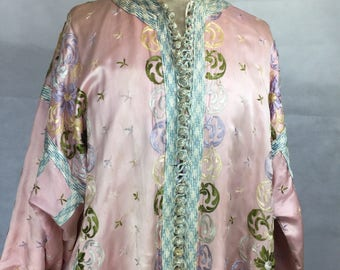 Vintage 1930s style silk embroidered robe