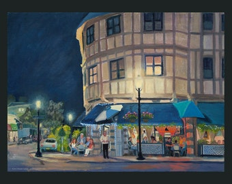 Tarrytown: Lefteris at Night by Ronnie Levine