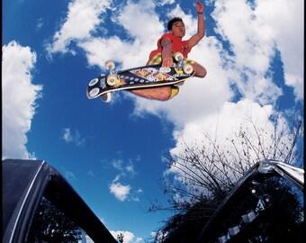 Steve Caballero Aerial Skateboarding Photo 18 x 24 Inches - 80s Skate Photo