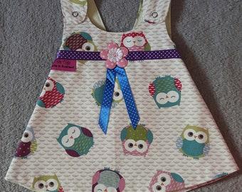 Owl Reversible Pinafore Dress