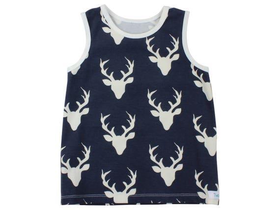 Navy Blue Deer Tank Top