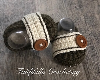 Newborn loafers, olive losfers, crocheted sgoes, baby soft sole shoes, baby shower gift, ready to ship