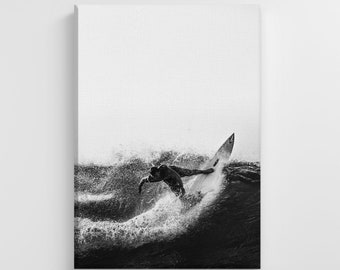 Man Water Surfing Summer Time Photo Large Canvas Nature Art Print Stylish Home Decoration Wall Art Nursery Decor Living Room | IC160