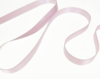 Lilac satin ribbon double sided 10 mm