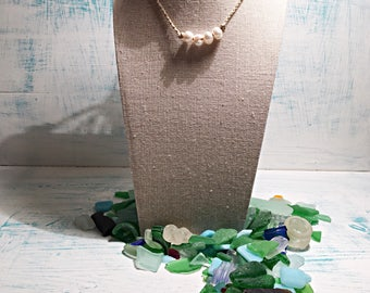 Simple Pearl Necklace on Adjustable Cord