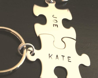 Mothers Day Gifts, Fathers Day Gifts, Boyfriend Gift, love key chains, his and hers key chains, custom key chains, puzzle