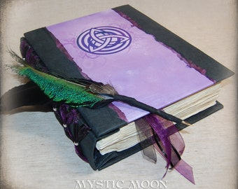 Amethyst Guest Book / Book of Shadows / Prayer Book / Charmed / Journal / Pagan / Triquetra / Binder / Spell book / Quill Pen / BOS