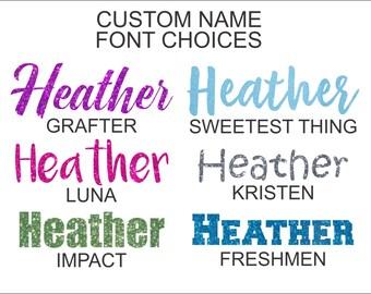 Custom Name Iron On, Iron On Name, Custom Glitter Iron On, Custom Glitter Name, DIY Name, DIY Iron On Name, Personalized Name Iron On