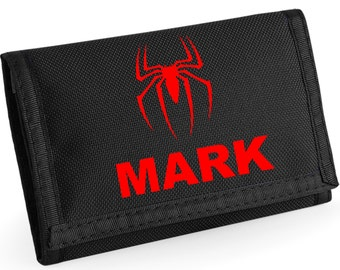 Personalised Spiderman/Spider Wallet - *Choice of colours*