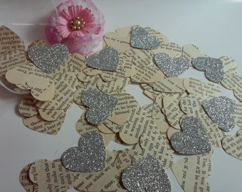 Paper hearts, Wedding confetti, Heart punches, Heart die cuts, Paper heart confetti