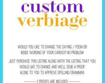 Custom Verbiage fee