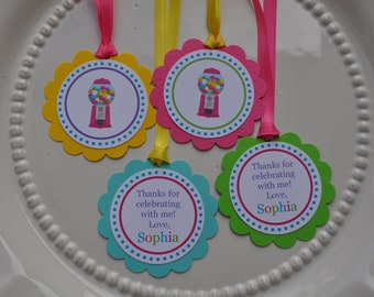 Sweet Shop or Candyland Favor Tags set of 12