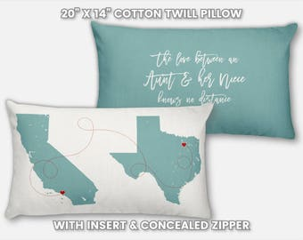 Personalized Aunt Gift from Niece and Nephew, Unique Christmas Gift for New Aunt, Pregnancy Reveal Announcement Aunt Birthday Gift Pillow