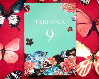 Wedding Table Numbers or Table Names in Spring Orient