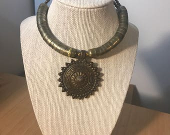 Antique Gold Tribal Choker
