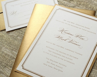 Gold Wedding Invitations, Gold Foil, Printable Wedding, Foil Invitations, Gold Table Numbers, Gold Programs, Gold Menus, Gold Save the Dates