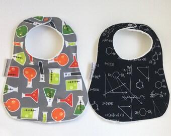 Science Bib | Minky Bib | Math Bib | Chemistry Bib | Science Baby | Baby Gift | Shower Gift | STEM Girl | STEM Baby