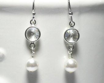 Pearl Earrings Mothers Day Gift Bridesmaid Earrings Dangle Earrings Mom Girlfriend Sister