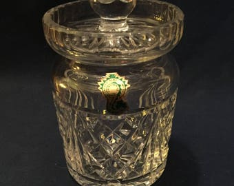 Jam / Jelly Jar with Notched Lid by Waterford of Ireland