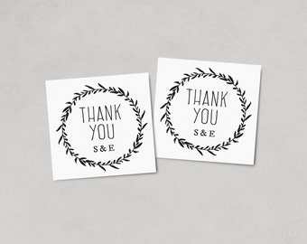 Wedding Favor Tags, Printable Wedding Favor Tag Template, Thank You Tag, Kraft Favor Tags, Instant DOWNLOAD, EDITABLE Text, 2x2, FT02