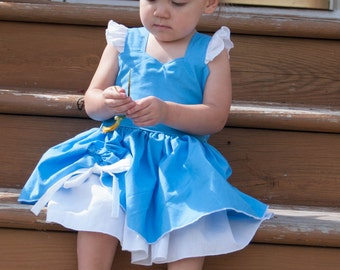 Boutique Quality Handmade Everyday Princess Cinderella Inspired Dress sizes newborn - girls 8